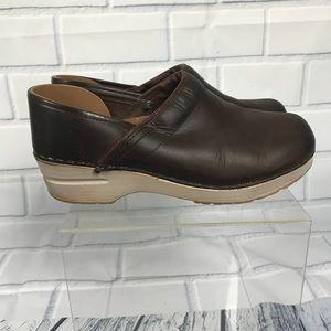 Dansko Professional Oiled Leather Clogs Sz 38